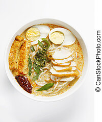 laksa -  breakfast food of bowl of laksa