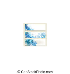 Abstract blue  business vector card