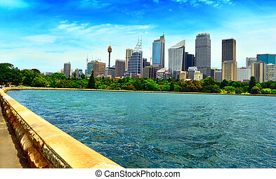 Sydney Australia Downtown - View Across the Bay