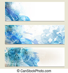 Abstract blue business vector cards set for design - Vector...