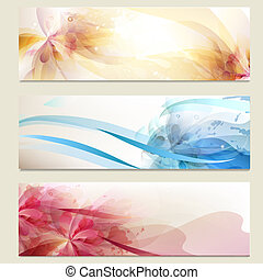 Abstract colorful vector backgrounds set - Vector set of...