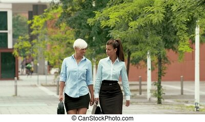 Business and women, two colleagues