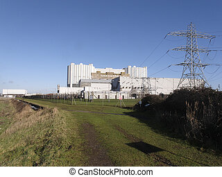 Oldbury nuclear power station on the River Severn,...