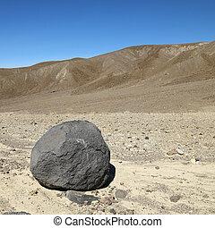 rocher, mort, vallée