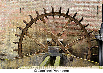 Cogwheel drive the watermill. - Cogwheel drive the watermill...