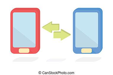 Vector smart phone data transfer