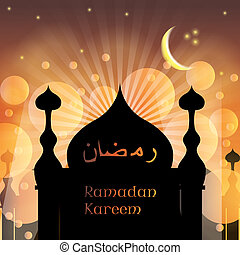 Arabic Islamic Ramadan Kareem background