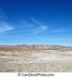 Cottonwood Canyon, Utah - Desert landscape with rocky cliffs...