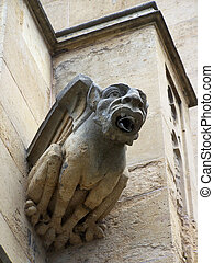 Gargoyle - A gargoyle rain spout Queens College, University...