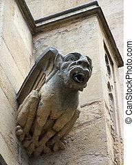 Gargoyle - A gargoyle rain spout (Queen's College,...