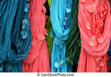 Scarfs at the market