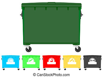 Recycling bins set