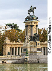 Madrid, Retiro Park, Monument to Alonso XII, Spain