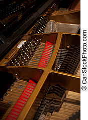 inside a piano - shows the inside of a grand piano