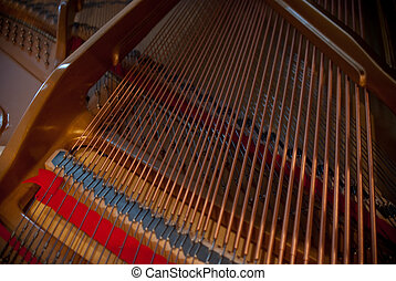 piano strings - these are the strings inside a piano