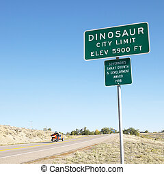 colorado, 都市, 恐竜