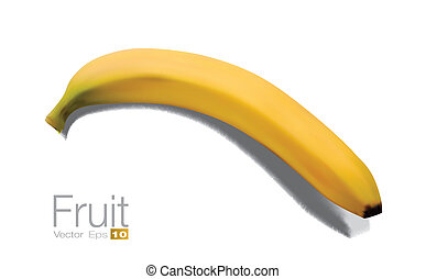 High detailed Banana in scalable vector format