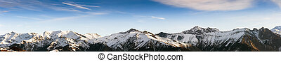 the Alps - panoramic view of the Alps at italian-french...