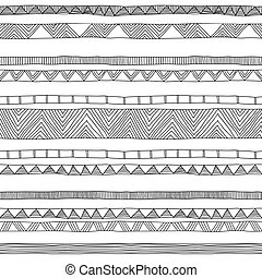 doodle seamless pattern - hand drawn doodle seamless pattern