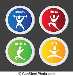 gym buttons