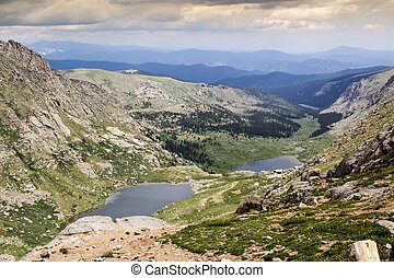 Mount Evans Overlook at Summit Lake in Colorado