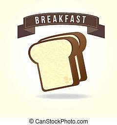 breakfast design over white background vector illustration