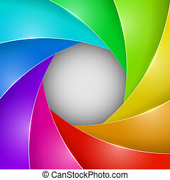 Abstract colorful photo shutter aperture vector background...