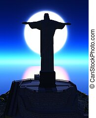Christ the Reedemer, in Rio de Janeiro - Famous statue of...