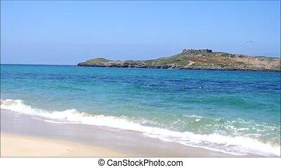 Island beach at Porto Covo, Portugal