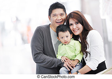 Young adult asian family - Portrait of happy asian people...