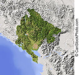 Montenegro, shaded relief map - Montenegro Shaded relief map...