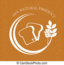 natural product over brown background vector illustration