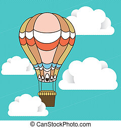 balloon design over sky background vector illustration
