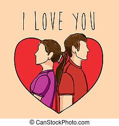 i love you design - i love you design over pink background...