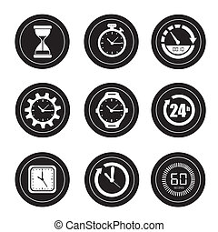 watches icons over white background vector illustration