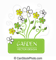 garden design over white background vector illustration