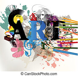 Abstract art vector conceptual back - Abstract vector art...