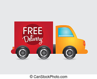 free deliivery - free delivery over white background vector...
