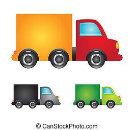 trucks design over white background vector illustration