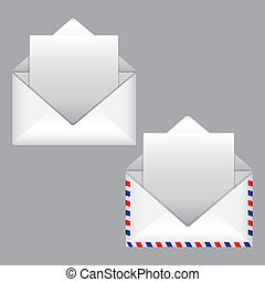 mail design over gray background vector illustration