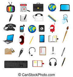 application icons over white background vector illustration