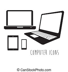 computer icons over white background vector illustration