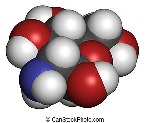 Glucosamine food supplement molecule Atoms are represented...