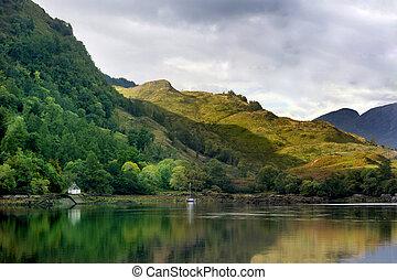 Lake Placid Scotland - Placid and calm scenic loch in...