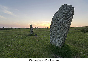 Standing Stones in Cornwall - The Hurlers Stone Circle on...