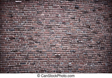 Bulky Brick Wall - A rough brick wall
