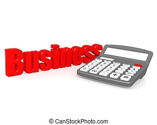 Business with calculator - Hi-res original 3d rendered...