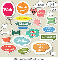 Collection of speech baubles for we - Set of vector speech...