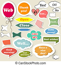 Collection of speech baubles for web design - Set of vector...