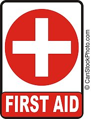 First Aid Sign - First Aid symbol isolated on white...